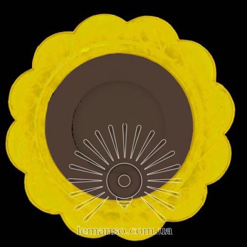 "LED панель Lemanso ""Ромашка"" 3+3W с жёлтой подсветкой 320Lm 4500K 175-265V / LM909"