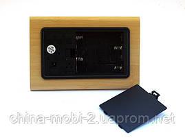 VST-861 Часы настольные цифровые с будильником, датой и термометром, бежевые с белыми цифрами, фото 3