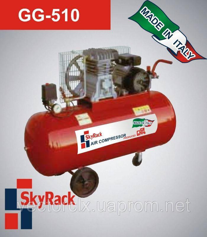 Компрессор поршневой GG 510 с ременной передачей  (220В, ресивер 150 л)