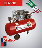 Компрессор поршневой GG 510 с ременной передачей  (220В, ресивер 150 л), фото 1