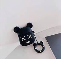 Чехол футляр для наушников AirPods Мишка Bear Brick + брелок силиконовый, фото 1