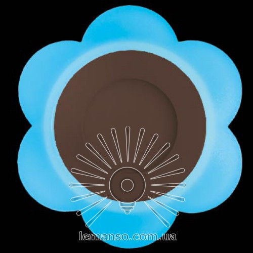 """LED панель Lemanso """"Молочная ромашка"""" 3+3W с синей подсветкой 350Lm 4500K 175-265V / LM908"""