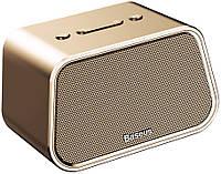 Акустическая система Baseus Encok Multi-functional wireless speaker E02 Aluminum alloy+U disk/TF card/AUX Gold (NGE02-0V)