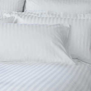 Комплект постельного белья страйп-сатин УкрЮгТекстиль евро белый