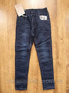Джинсы брюки для мальчиков на флисе с Венгрии оптом , размер 116-146, фирма F&D