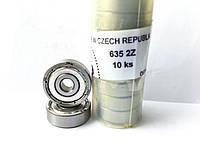 Подшипник ZKL 635 2Z (5x19x6) однорядный, фото 1