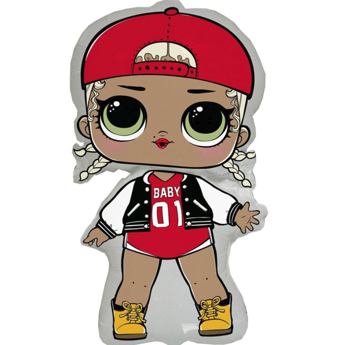 Фольгированный шар большой фигурный Кукла Лол Эм Си Сваг Lol Mc Swag