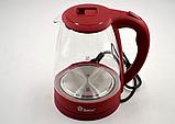 Электрический чайник Domotec MS-8213 (2,2 л / 2200 Вт) Красный, фото 2