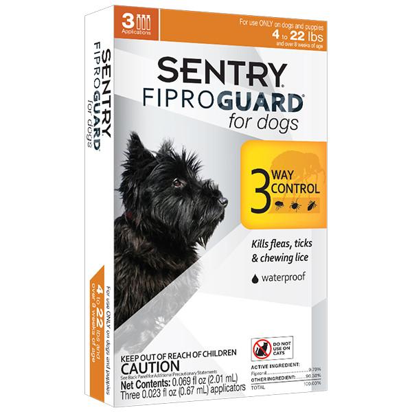 Капли FiproGuard от блох, клещей и вшей для собак весом до 10 кг 3 пипетки