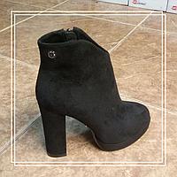 Жіночі черевики Lino Marano високий стрип чорна замша A839-6, 35