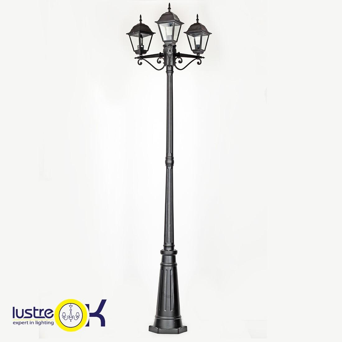 Садово - парковый светильник BS-7019A/3 BK