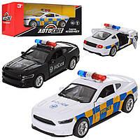 """Машинка """"АвтоСвіт"""", """"Полиция"""", металлическая, инерционная, открываются двери, 2 вида, AS-2071"""