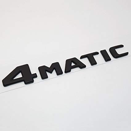 Матовая Эмблема Шильдик надпись 4MATIC Мерседес Mercedes
