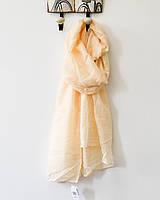 Модный женский воздушный шарф нежного бежевого цвета