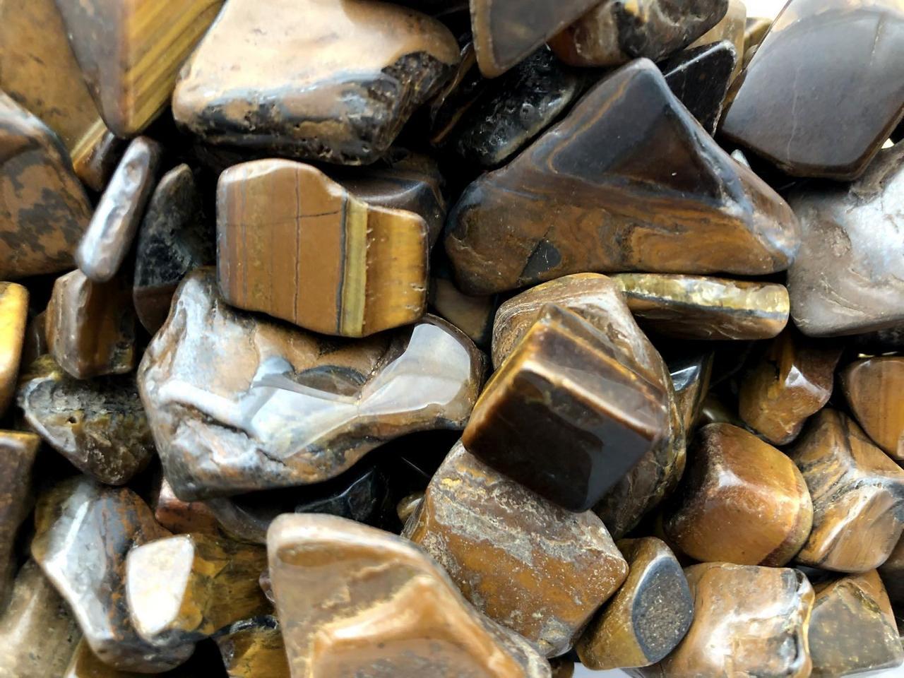 Натуральный камень крошка Тигровый Глаз 10-25 мм 10 грамм Камінь крихта коричневий Тигрове око