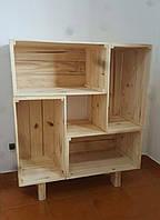 Полка деревянная из ящиков