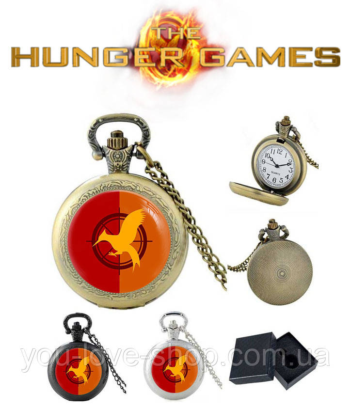Карманные часы с логотипом сойки пересмешницы Голодные игры / The Hunger Games