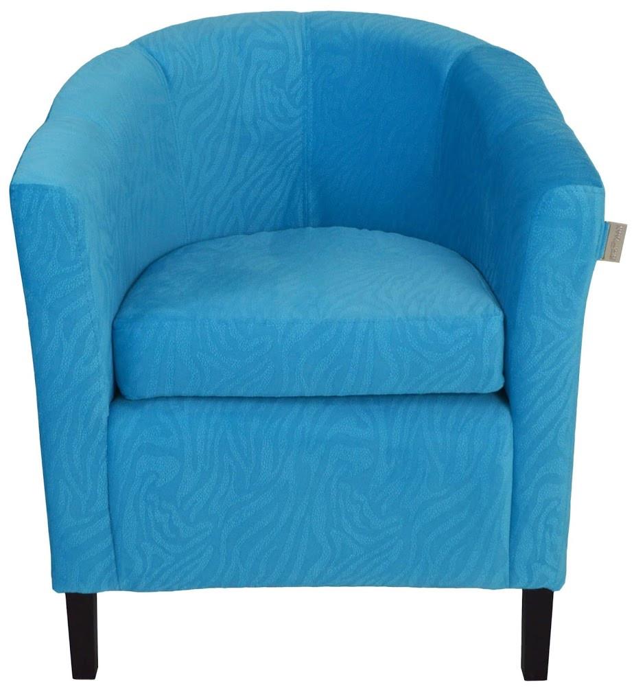 Кресло Бафи синее