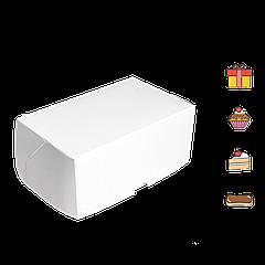 Коробка для торта КТ 0100 (1кусок) белая100*160*80мм (уп/25шт) (Р)