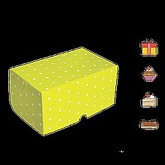 Коробка для торта КТ 0115 (1кусок) зелёный горох 100*160*80мм (уп/25шт)