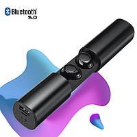 Наушники беспроводные блютуз гарнитура Wi-pods S2 водонепроницаемые. Bluetooth 5.0. Черные