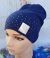 Очень красивая демисезонная шапочка для девочки Perfect (Польша)