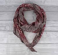 Итальянский шарф Girandola 0001-110 бордовый с принтом, коттон 80%, шелк 20%