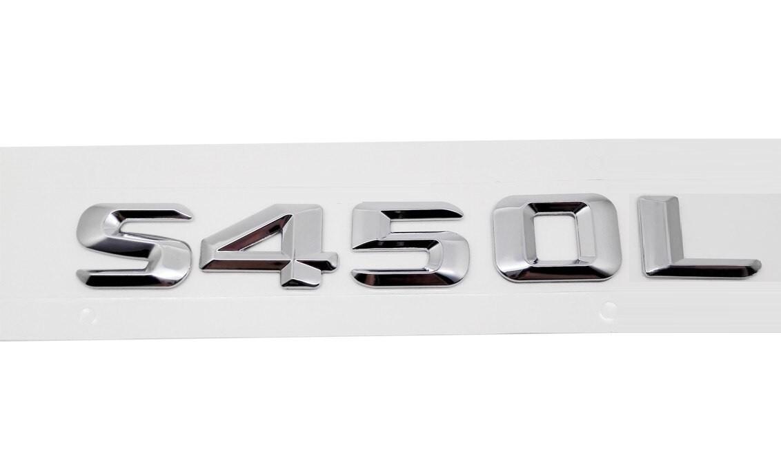 Хромированная Эмблема Шильдик надпись S450L Мерседес Mercedes