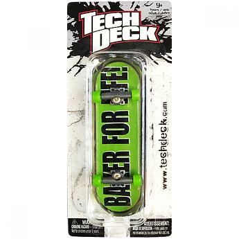 Набор фингерборд + отвертка Tech Deck Baker For Life Green