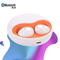 Беспроводные наушники блютуз наушники Bluetooth 5.0 Wi-pods К10  наушники с микрофоном. Белые ОРИГИНАЛ