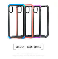 Чехол Element Case for iPhone XS Transparent Clear Red