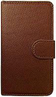 Чехол FT Leather Case Bi-Fold BROWN for Samsung Galaxy S2