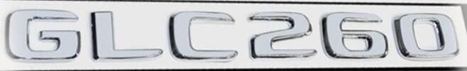 Хромированная Эмблема Шильдик надпись GLC260 Мерседес Mercedes