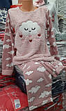 Піжама тепла флісова, велсофт, фото 4