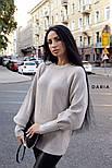 Женский базовый свитер с объемными рукавами (в расцветках), фото 9