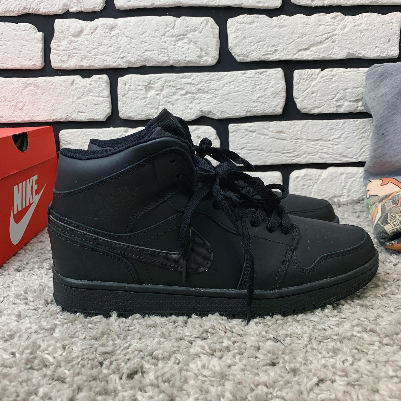 Зимние кроссовки (на меху) мужские Nike Air Jordan (реплика) 1-067 ⏩ [ 41,46 ]