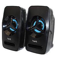 Колонки акустические Havit HV-SK585 USB 2.0 black+blue 9см
