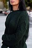Женский свитер свободного кроя с элементами вязки коса (в расцветках), фото 3