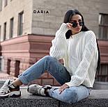 Женский свитер свободного кроя с элементами вязки коса (в расцветках), фото 9