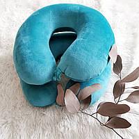 Ортопедическая дорожная подушка с эффектом памяти, бирюзовая