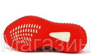 """Мужские кроссовки adidas Yeezy Boost 350 V2 """"Red"""" (Адидас Изи Буст 350) красные, фото 3"""