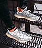 Мужские кроссовки adidas Yeezy Boost 350 V2 Topen (Адидас Изи Буст 350 Топен) рефлективные шнурки, фото 5