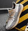 Женские кроссовки adidas Yeezy Boost 350 V2 Topen (Адидас Изи Буст 350 Топен) рефлективные шнурки, фото 5