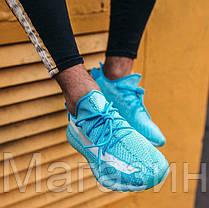 Женские кроссовки adidas Yeezy Boost 350 V2 Bluewater Адидас Изи Буст 350 голубые, фото 2