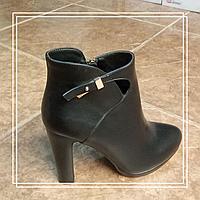 Женские демисезонные ботинки Lino Marano стрип черная кожа L962 , 37