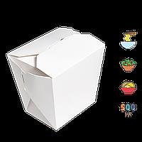 Упаковка для лапши ЛЛ 0400 белая 60*75*90мм 500мл/300г (уп/25шт) (Р)