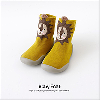 Тапочки носки на резиновой подошве с хлопковой стелькой, фото 1