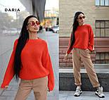 Женский базовый свитер свободного кроя (в расцветках), фото 4