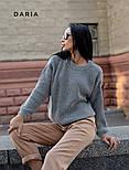 Женский базовый свитер свободного кроя (в расцветках), фото 2