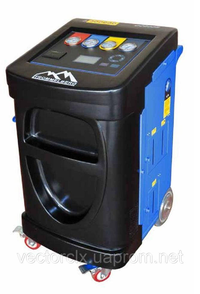 Установка для обслуживания кондиционеров OC600B, супер автомат с весами для масла и УФ добавки